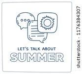 let's talk about summer doodle... | Shutterstock .eps vector #1176384307