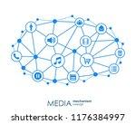 media mechanism concept. growth ... | Shutterstock .eps vector #1176384997