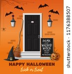 halloween design. home of the... | Shutterstock .eps vector #1176388507