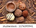 handmade chocolate candies and... | Shutterstock . vector #1176395941