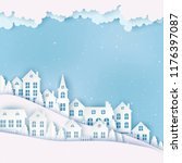 winter urban countryside... | Shutterstock .eps vector #1176397087