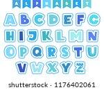 cartoon alphabet. letters fonts ... | Shutterstock .eps vector #1176402061