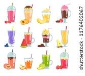 cartoon smoothie. various... | Shutterstock .eps vector #1176402067
