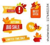 autumn offer sales. vector... | Shutterstock .eps vector #1176402154