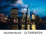scenery view of lower manhattan ... | Shutterstock . vector #1176406924