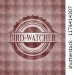 bird watcher red badge with... | Shutterstock .eps vector #1176414307
