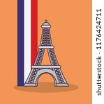 france culture card with flag... | Shutterstock .eps vector #1176424711