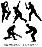 Cricket Sport Silhouette On...