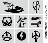 wind energy | Shutterstock .eps vector #117642691