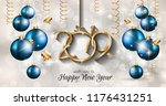 2019 happy new year background... | Shutterstock .eps vector #1176431251