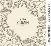 background with zira  cumin ... | Shutterstock .eps vector #1176433984