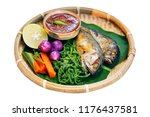 tradition thai food   nam prig... | Shutterstock . vector #1176437581