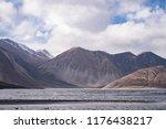 pangkong tso in himalayas range ... | Shutterstock . vector #1176438217