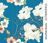 elegance pattern with flowers... | Shutterstock .eps vector #1176442411