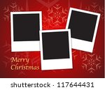 merry christmas card templates... | Shutterstock .eps vector #117644431