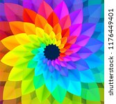 bright spectrum colors spiral... | Shutterstock .eps vector #1176449401