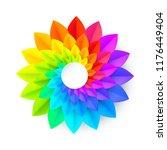 vivid rainbow colors vector... | Shutterstock .eps vector #1176449404