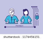 couple with fintech concept | Shutterstock .eps vector #1176456151