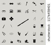 surgical scalpel icon. medicine ... | Shutterstock .eps vector #1176458401