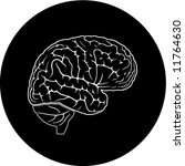 vector brain icon. black and... | Shutterstock .eps vector #11764630