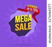 sale label design template....   Shutterstock .eps vector #1176464377