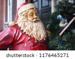santa claus statue for... | Shutterstock . vector #1176465271