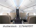 empty passenger airplane seats...   Shutterstock . vector #1176469597