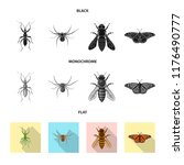 vector design of insect and fly ... | Shutterstock .eps vector #1176490777