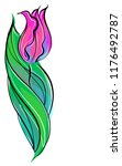 drawing vector graphics with...   Shutterstock .eps vector #1176492787