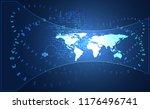 abstract big data communication ... | Shutterstock .eps vector #1176496741