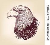 Eagle   Hand Drawn  Vector...