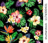 floral tropical pattern... | Shutterstock . vector #1176500431
