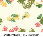 tropical background. green ... | Shutterstock .eps vector #1176501004