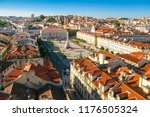 high angle view of rossio... | Shutterstock . vector #1176505324