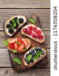 brushetta or traditional... | Shutterstock . vector #1176508204