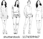 vector drawings on the theme of ... | Shutterstock .eps vector #1176509467