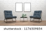 modern living room interior... | Shutterstock . vector #1176509854