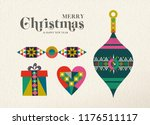 merry christmas and happy new... | Shutterstock .eps vector #1176511117