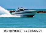 luxury cabin cruiser at high... | Shutterstock . vector #1176520204