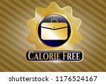 gold emblem or badge with... | Shutterstock .eps vector #1176524167