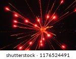 firework explosion in the sky | Shutterstock . vector #1176524491
