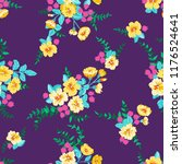 seamless ditsy pattern in small ... | Shutterstock . vector #1176524641