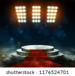 stage lighting background 3d... | Shutterstock . vector #1176524701