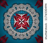orient  symmetry lace. vector...   Shutterstock .eps vector #1176530494