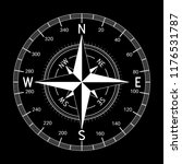 compass. white illustration on... | Shutterstock . vector #1176531787