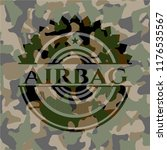 airbag on camouflaged pattern | Shutterstock .eps vector #1176535567
