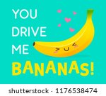 cute banana cartoon... | Shutterstock .eps vector #1176538474
