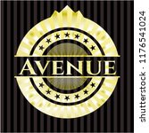 avenue gold shiny badge | Shutterstock .eps vector #1176541024