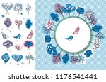 winter greeting card. trees and ...   Shutterstock .eps vector #1176541441