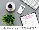 start of bankruptcy procedure.... | Shutterstock . vector #1176541747